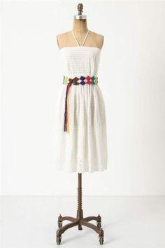 Nwt Anthropologie Blanched Eyelet Dress Sz  6 Size New S Small White Sundress #Anthropologie #Sundress #SummerBeach
