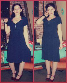 Craft, Thrift, or Die: Vintage-ier than 90s refashion; Thrift store dress refashion