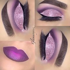 Eye Kandy's Double Bubble got this gorgeous cut crease www. - Eye Kandy's Double Bubble got this gorgeous cut crease www. Purple Eye Makeup, Glitter Makeup, Prom Makeup, Girls Makeup, Skin Makeup, Eyeshadow Makeup, Beauty Makeup, Makeup News, Makeup Trends