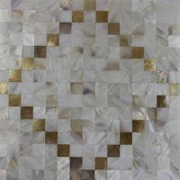 fashion style freshwater+sea shell mosaic tile natural color kitchen bathroom bedroom wall mosaics tiles parquet decoration
