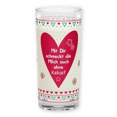 """sheepworld Trinkglas »Mit Dir« Ein Glas Saft oder Milch aus diesem Glas wird dank des liebevollen Designs auch optisch zum Genuss! Der süße Spruch """"Mit Dir schmeckt die Milch auch ohne Kekse!"""" sorgt für ein Lächeln und macht das Glas zu einem ganz besonderen Liebes-Geschenk. http://shop.sheepworld.de/shop/nach-Serien-Motive/Mit-Dir/Trinkglas-Mit-Dir.html?listtype=search&searchparam=43840"""