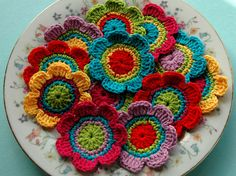 plate full of flowers