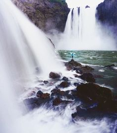 """Snoqualmie Falls, Washington. """"Looking at beauty in the world, is the first step of purifying the mind."""" 