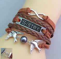 LIEBLINGSMENSCH Schwester Armband - Sister Wickelarmband - verschiedene Modelle. Super trendige Armbänder die immer Auffallen.  #Armband #Lieblingsmensch #Geschenk #Mann #Frau #Familie #Liebe #Partner #Beziehung #Schmuck #Schwester