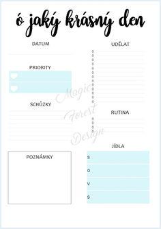 Sada - modrá #daily #planner #diary #diář #plánovací #plánovač  Chcete si hezky uspořádat svůj čas? Pak si objednejte tyto denní plánovače. S nimi zaručeně na nic nezapomenete. Tento denní plán je velikosti A5 a hodí se například do diáře. School Supplies, Life Hacks, Addiction, Self, Love You, Bullet Journal, Organization, How To Plan, Education