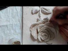 "Bas relief ""Birth of roses"",  master class 2. Барельеф ""Рождения розы"", мастер класс 2. - YouTube"
