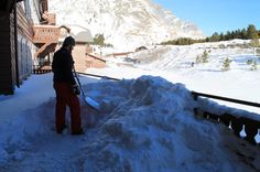 Taking care of the Lodges during the Winter . Many Glacier's Winter Keeper @GlacierLodges