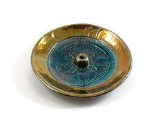 Raku VAJRA INCENSE BURNER Handmade Ceramic Pottery Buddhist by DeBaunFineCeramics on Etsy