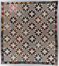 Friendship Block, made by Mercy Jane Bancroft Blair, made in South Apalachin, New York, c. 1855-1863, 90 x 79, IQSCM 1997.007.0852    A note attached to this quilt states it was made by friends for Mercy Jane (Bancroft) Blair. However, with research and the help of Blair descendants, we learned the quilt was likely made by Blair in 1863.    For more information, visit http://www.quiltstudy.org/exhibitions/online_exhibitions/whats_in_a_name/inscribed_quilts1.html.
