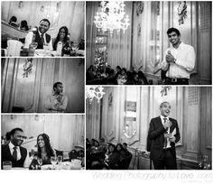 Photographing the wedding speeches at Le Meridien, Piccadilly, London. The most stunning venue. Wedding photography by Rebecca Tovey. - www.weddingphotographytolove.com