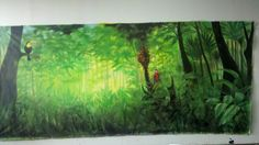 The Jungle Book back drop. The finished product