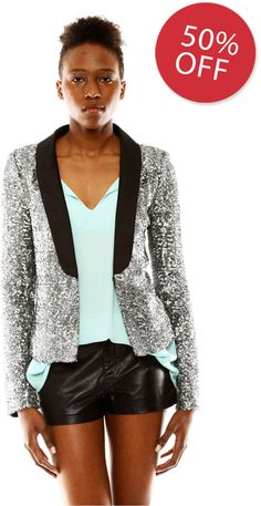 D.E.P.T Sequin Blazer | #Chic Only #Glamour Always