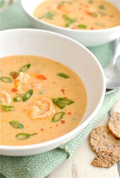 Cajun Shrimp Bisque  http://bevcooks.com/2012/01/cajun-shrimp-bisque/#