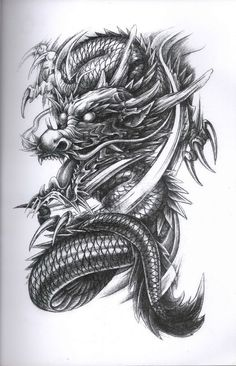 Dragon Diseno TATTOO ART Dragon tattoo designs, s dragon tattoo - Tattoo Dragon Tattoo Flash, Dragon Tattoo Art, Japanese Dragon Tattoos, Dragon Tattoo Designs, Dragon Art, Dragon Drawings, Kunst Tattoos, Body Art Tattoos, Sleeve Tattoos