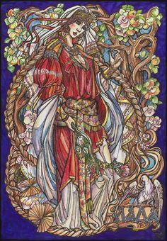Lada - Slavic pagan deity of harmony, merriment, youth, love and beauty --- by ~Righon on deviantART