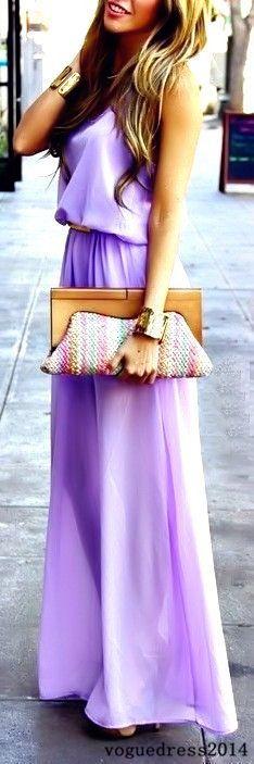 lavender maxi dress :)