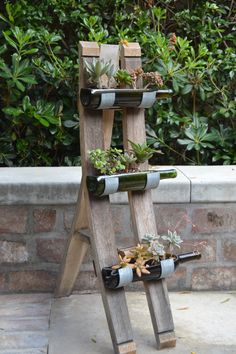 Floor Standing Bottle Garden Holder