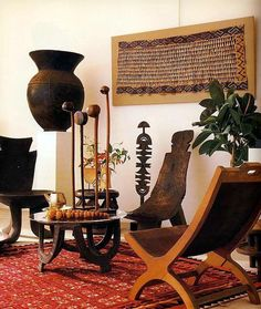 African Living Rooms, African Room, African Art, Deco Ethnic Chic, Ethnic Decor, Rugs In Living Room, Living Room Decor, Ethnic Living Room, African Interior Design