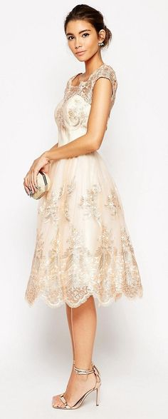 Buy Chi Chi London Premium Lace Midi Prom Dress With Bardot Neck at ASOS. Get the latest trends with ASOS now. Ball Dresses, Evening Dresses, Short Dresses, Formal Dresses, Homecoming Dresses, Bridesmaid Dresses, Dress Outfits, Fashion Dresses, Frack