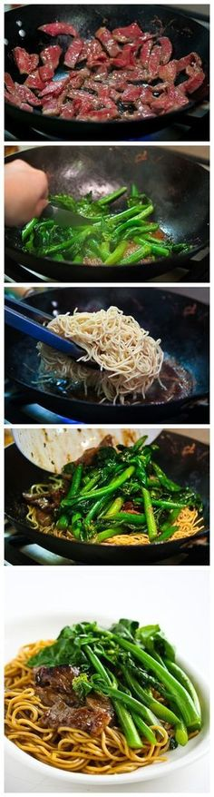 USE BEAN SPROUTS INSTEAD OF NOODLES - Chinese Broccoli Beef Noodle Stir Fry, maybe Ryan will finally use that wok he wanted that he hasn't touched once!