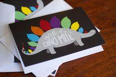 Dino-Mite card by thewoodlandbrush on Etsy