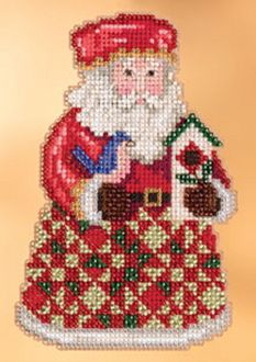 Jim Shore Mill Hill Cozy Christmas Santa Cross Stitch Kit