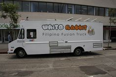 White Rabbit Truck has a massive chicken adobo burrito stuffed with fried eggs!