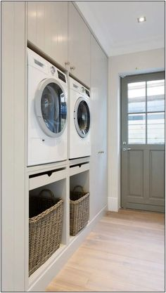 Laundry room before and after .Laundry room before and after . Laundry room before and after . Mudroom Laundry Room, Laundry Room Organization, Laundry In Bathroom, Laundry Baskets, Modern Laundry Rooms, Laundry In Kitchen, Laundry Room Pedestal, Washroom, Living Room Kitchen