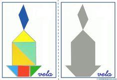 Tangram   Figuras para imprimir online Montessori, Toddler Busy Bags, Tangram Puzzles, File Folder Games, Homeschool Math, Homeschooling, Shape Design, Bar Chart, Activities