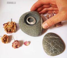 wedding ring box  ring box  jewelry bowl  stoneware  by Mihulli, $40.00