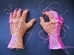 johanna,s haakwerk-I guess that this is crochet. This artist is very talented...break free of your pre-conceptions about how body parts Must Look-Pamela