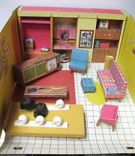 Vintage 1962 Barbie Doll Dream House With Furniture & Accessories by Mattel #816
