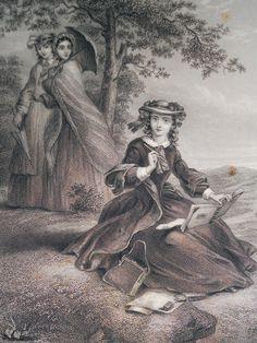 Godey's Lady's Book, April 1865.    via http://treselegant.tumblr.com/post/17151096347/godeys-ladys-book-april-1865