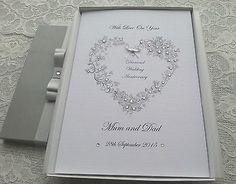 Diamond 60th Wedding Anniversary Card Handmade Personalised Boxed Or Envelope View More