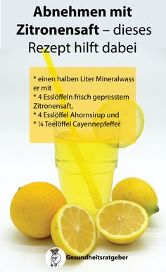 Abnehmen mit Zitronensaft – dieses Rezept hilft dabei Lose weight with lemon juice – this recipe helps weight Detox Cleanse Drink, Juice Cleanse Recipes, Detox Recipes, Detox Drinks, Detox To Lose Weight, Help Losing Weight, Weight Loss Detox, Green Drink Recipes, Salud Natural