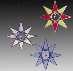 Crystal Star, Stained Glass Ornament