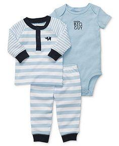 Carter's Baby Set, Baby Boys 3-Piece Elephant Bodysuit, Top and Pants - Kids Baby Boy (0-24 months) - Macy's