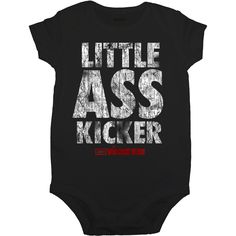 The Walking Dead Little Ass Kicker Infant Snap Suit - Baby Boy Names Baby Girl Names The Walking Dead, Cool Baby Boy Names, Names Baby, Black Boy Names, Star Wars Onesie, Uncommon Baby Names, Kicker, Jumpsuit Outfit, Baby Girl Newborn