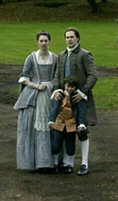 The Grey family: Lord John, Isobel and William