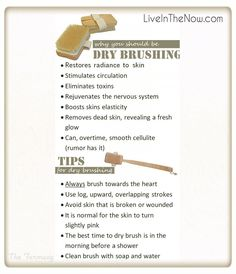 Brushing yourself.