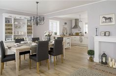 Great idea for extension beyond kitchen. Home Shabby Home | Arredamento, interior, craft: Kitchen