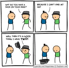 Two Hats I love cyanide and happiness way too much for my own good Check out Dieting Digest