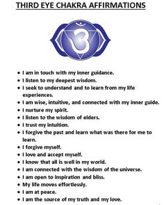 Third Eye Chakra affirmations Don't forget to include your own Hare Krsna passages and images to provide advancements beyond the scope of the temporal existences. Chakra Meditation, Mindfulness Meditation, Meditation Practices, 6 Chakra, 3rd Eye Chakra, Chakra Mantra, Crown Chakra, Ayurveda, Chakra Affirmations