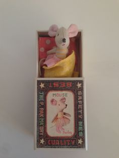 Maileg mouse in a matchbox