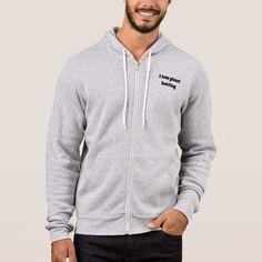 Full Zip Hoodie - diy cyo personalize design idea new special Hoodie Sweatshirts, Sweat Shirt, Quebec, Word Art, American Apparel, Geo Design, Fashion Graphic, Fashion Design, Skull Hoodie