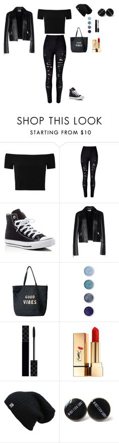 """""""Dark night"""" by dakotaboehler ❤ liked on Polyvore featuring Alice + Olivia, Converse, Versace, Venus, Terre Mère, Gucci and Yves Saint Laurent"""