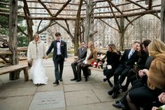 newlyweds in Cop Cot, Central Park