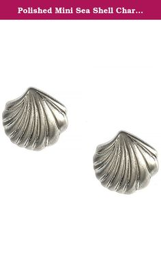"""Polished Mini Sea Shell Charm Stud 316L Surgical Steel Fashion Earrings (Silver). Polished Mini Sea Shell Charm Stud 316L Surgical Steel Fashion Earrings. Post back. Buy these beautiful earrings right now by clicking """"Add to Cart""""."""