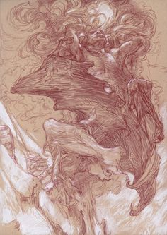 """juliedillon: """" Sketches from Middle-Earth: Visions of a Modern Myth by Donato Giancola. More sketches can be seen at his blog post on Muddy Colors. """""""