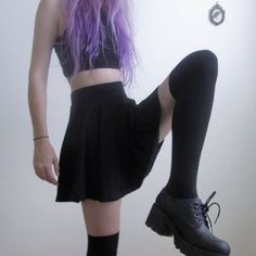 all black + the pastel purple hair OF COURSE -<3, Paige Palmer xx<3xx p.s. <3 pastel goths are not always true goths <3